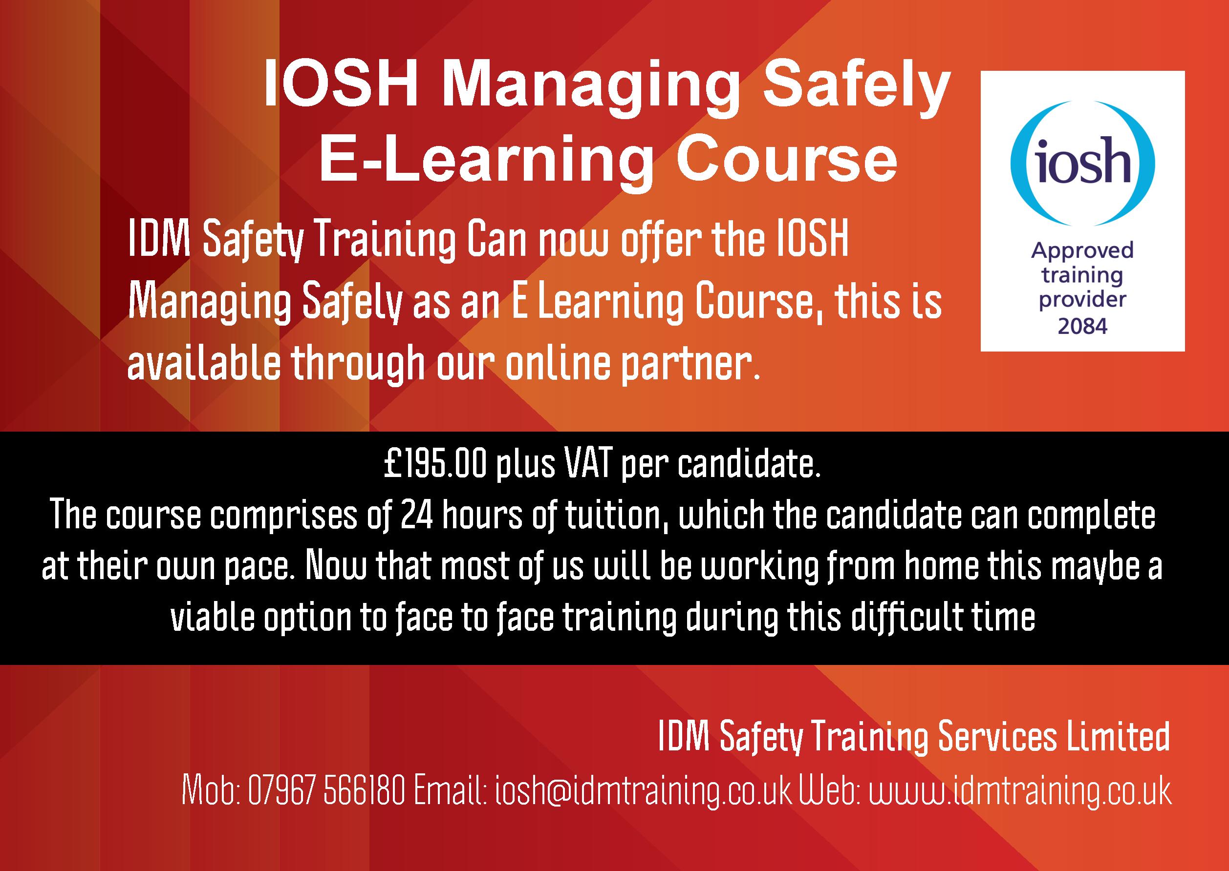 Managing Safely course at Tuddenham